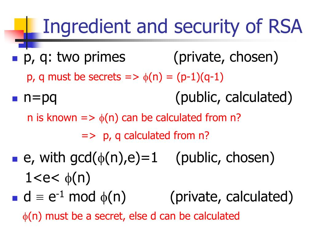 PPT - Chap  8,9: Introduction to number theory and RSA