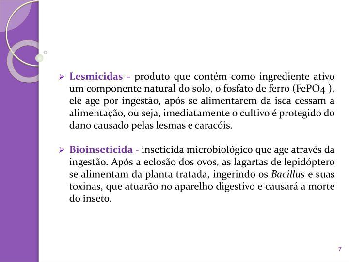 Lesmicidas -
