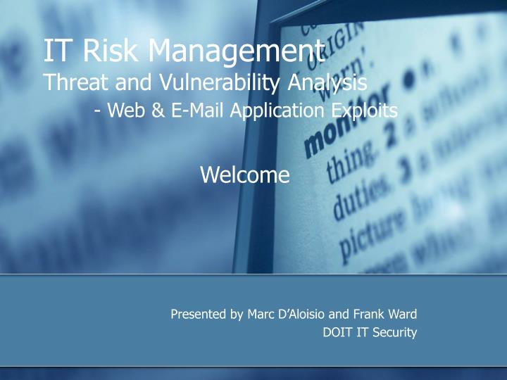 risks and threats of accounting information system An accounting information system is the collection, storage and processing of financial and accounting data that is used by decision makers an accounting information system is generally a computer-based method for tracking accounting activity in conjunction with information technology.