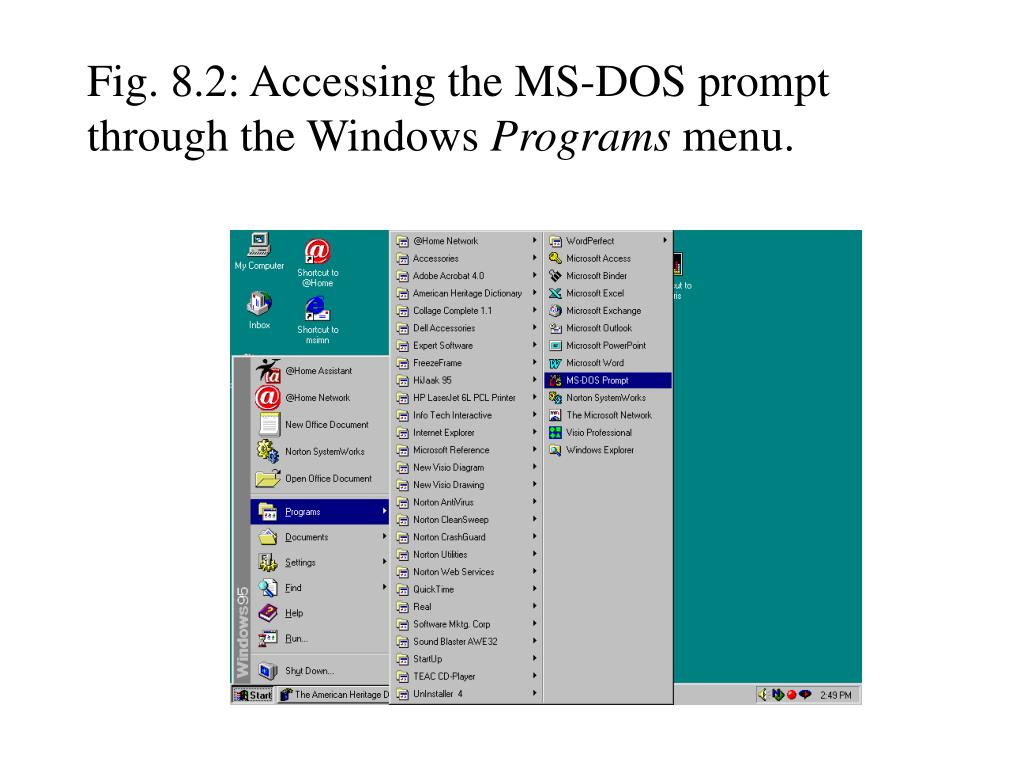 PPT - MS-DOS Commands PowerPoint Presentation - ID:7033368