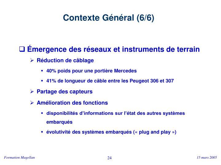 Contexte Général (6/6)