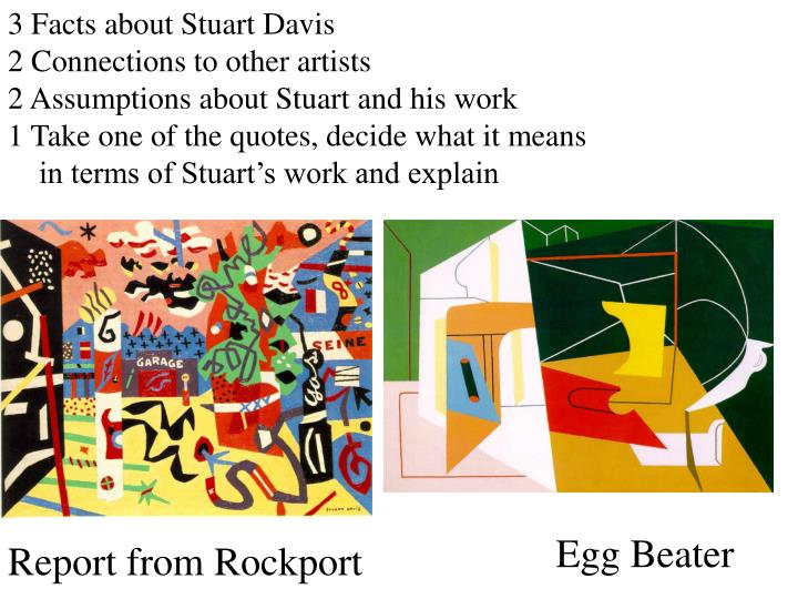 3 Facts about Stuart Davis