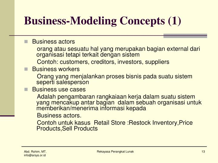 Business-Modeling Concepts (1)