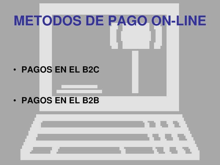 METODOS DE PAGO ON-LINE
