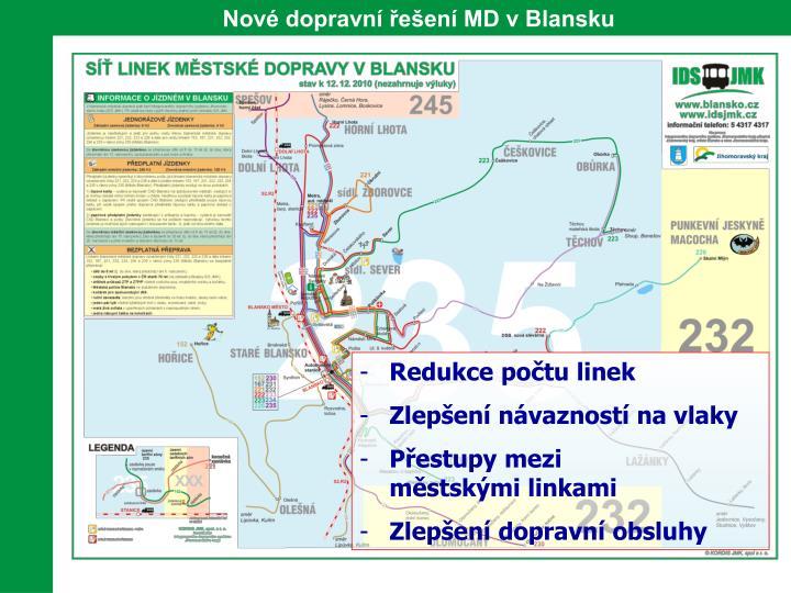 Nové dopravní řešení MD v Blansku
