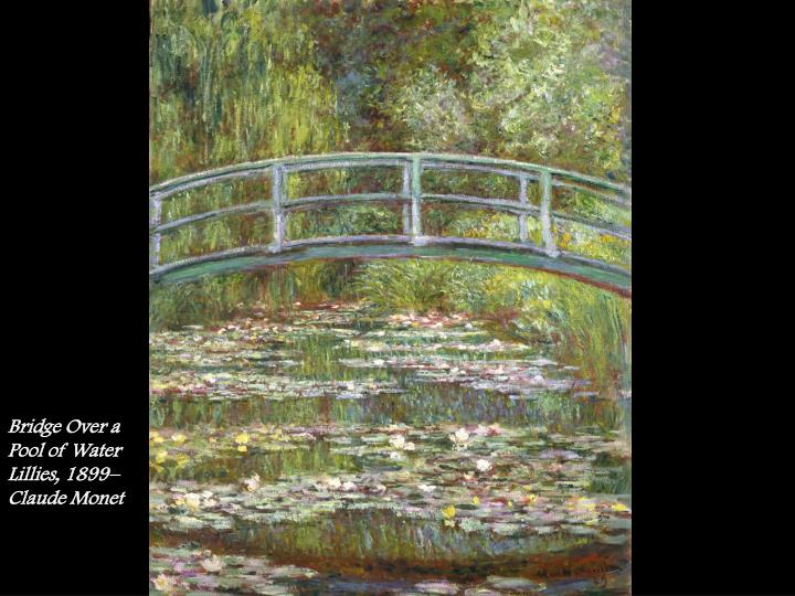 Bridge Over a Pool of Water Lillies, 1899– Claude Monet