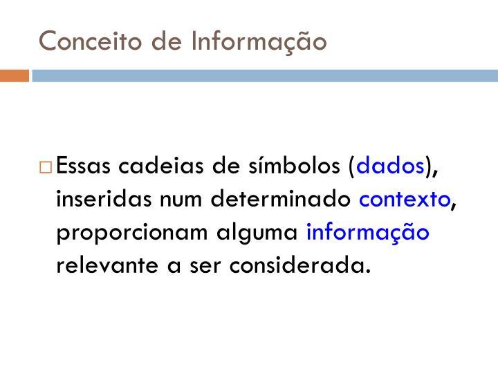 Conceito de Informação