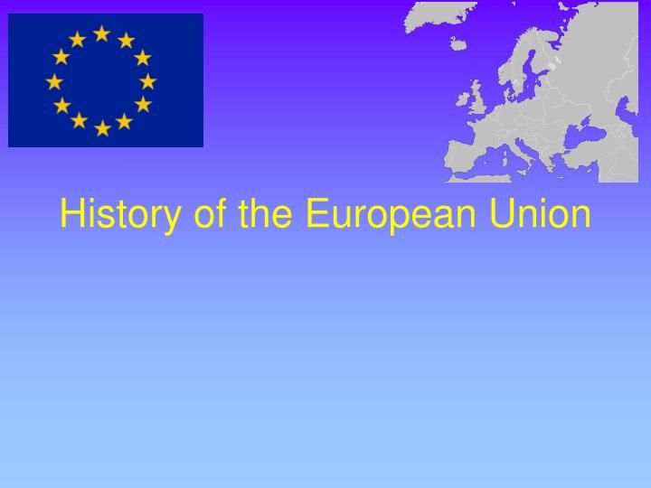 history of the european union n.