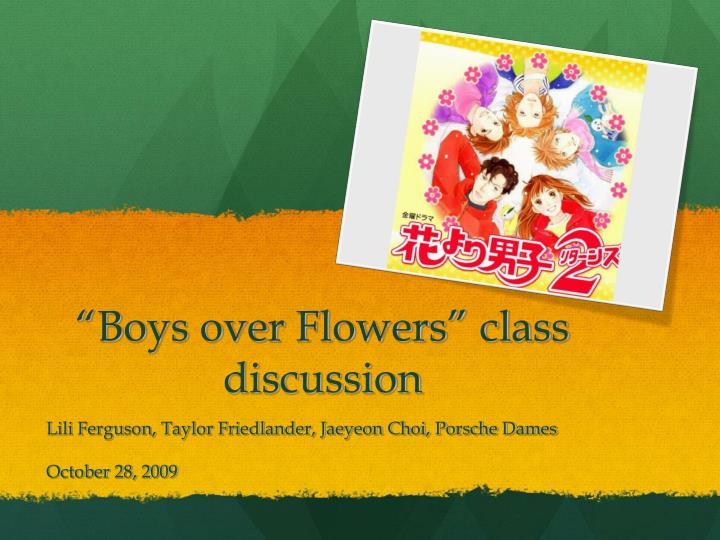 boys over flowers class discussion n.