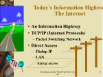 today s information highway the internet