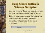 using search button in netscape navigator1