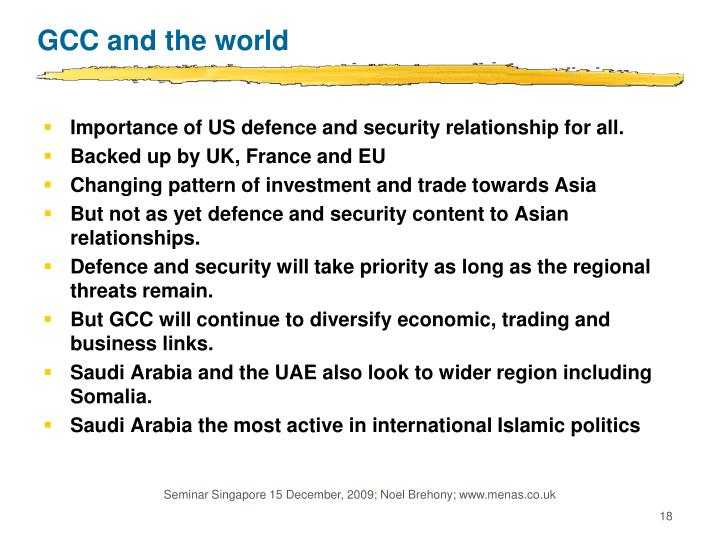 GCC and the world