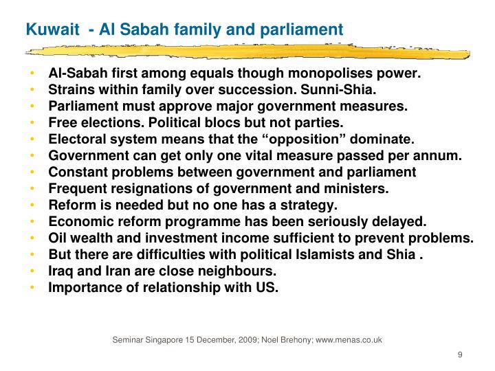 Kuwait  - Al Sabah family and parliament