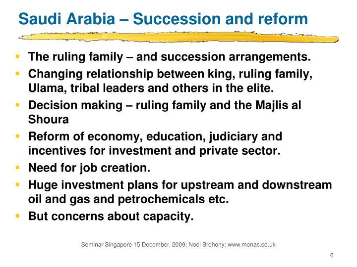 Saudi Arabia – Succession and reform
