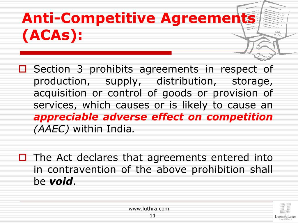 PPT - Competition Law in India-Latest Developments and