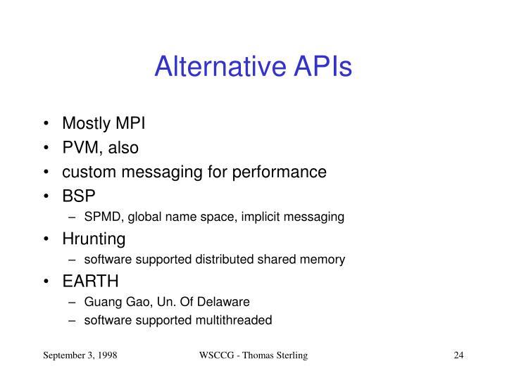 Alternative APIs