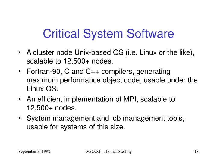Critical System Software