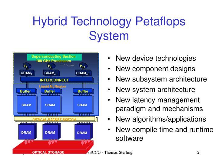 Hybrid technology petaflops system