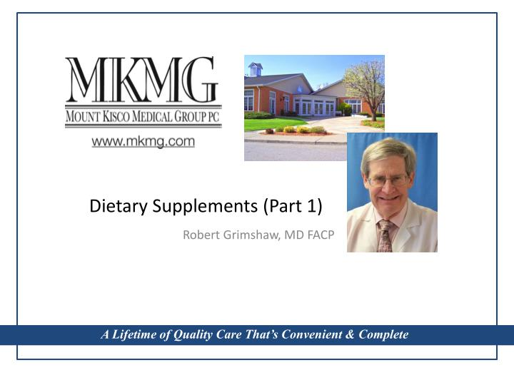 dietary supplements part 1 n.