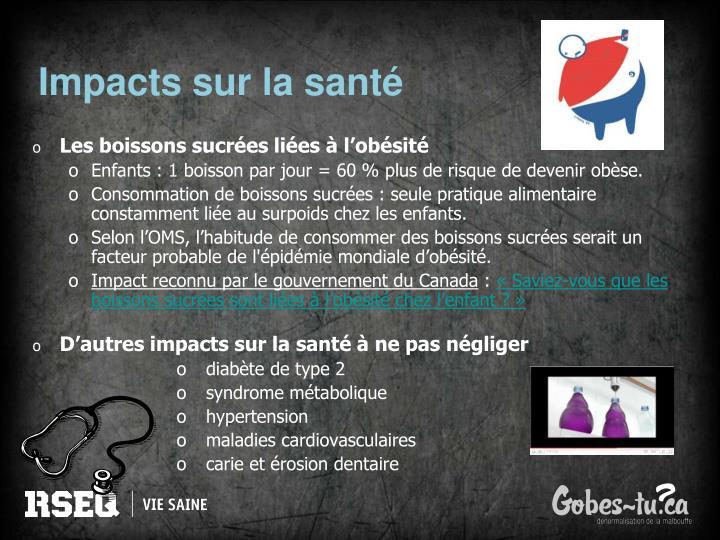 Impacts sur la santé