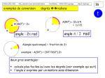 exemples de conversion degr s radians