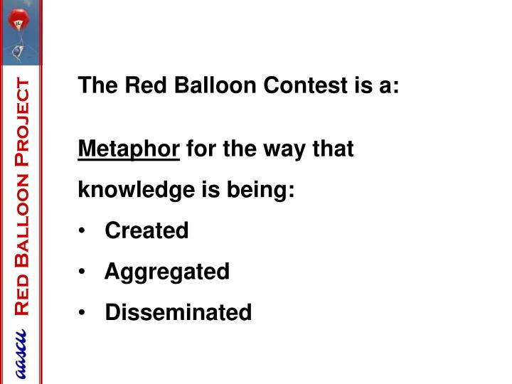 The Red Balloon Contest is a: