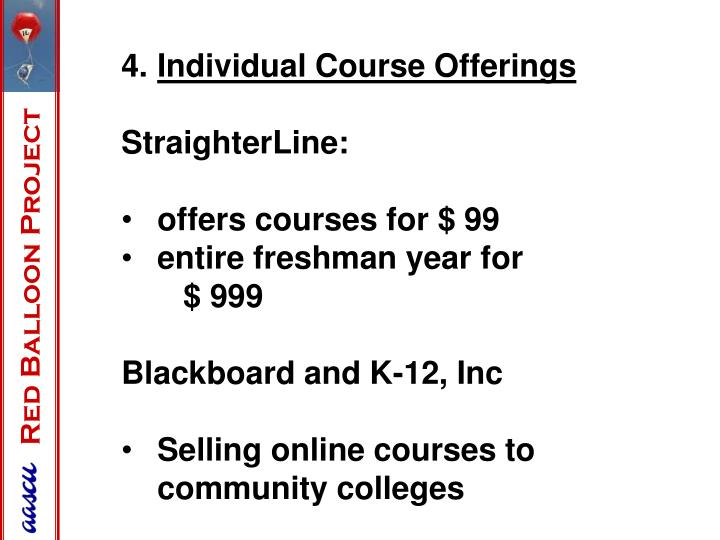 Individual Course Offerings