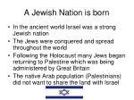 a jewish nation is born