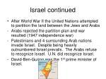 israel continued