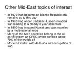 other mid east topics of interest