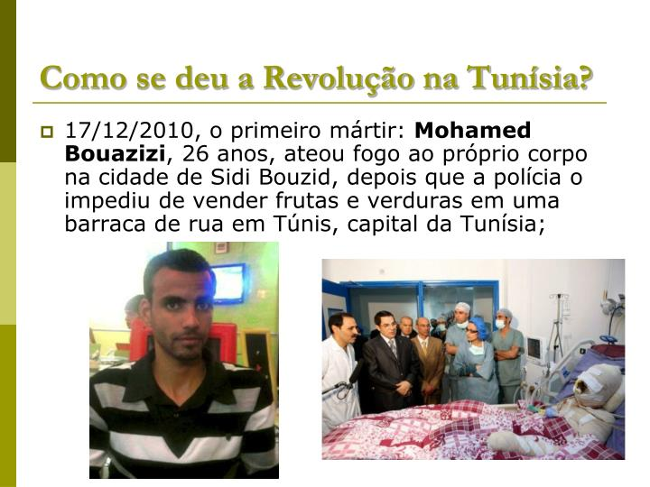 Como se deu a Revolução na Tunísia?