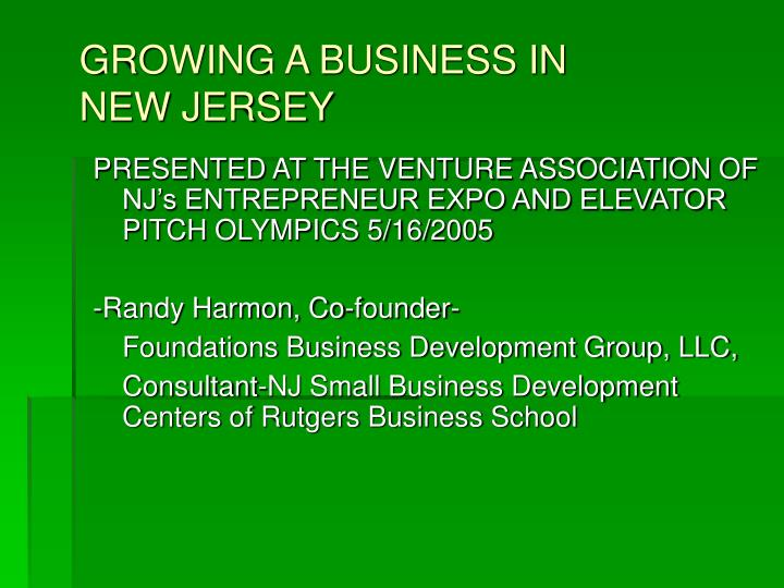 growing a business in new jersey n.