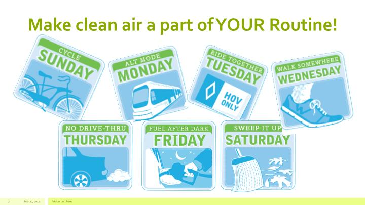 Make clean air a part of YOUR Routine!