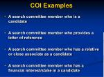 coi examples