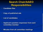search chair aaeo responsibilities
