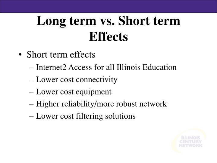 Long term vs short term effects