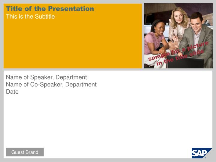 title of the presentation this is the subtitle n.