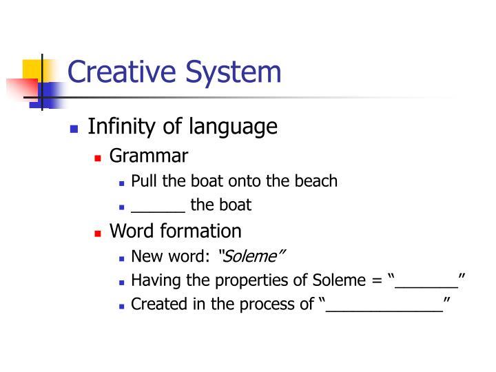 Creative System