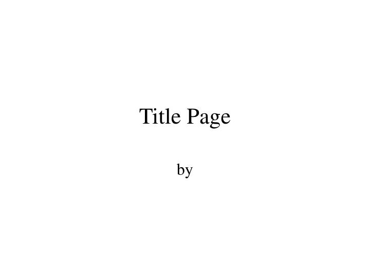 title page n.