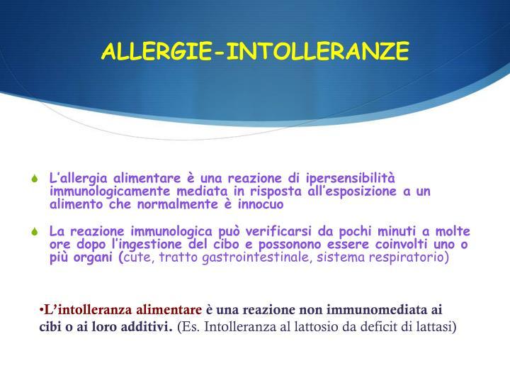 ALLERGIE-INTOLLERANZE