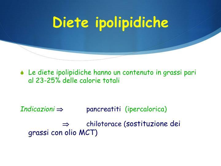 Diete ipolipidiche