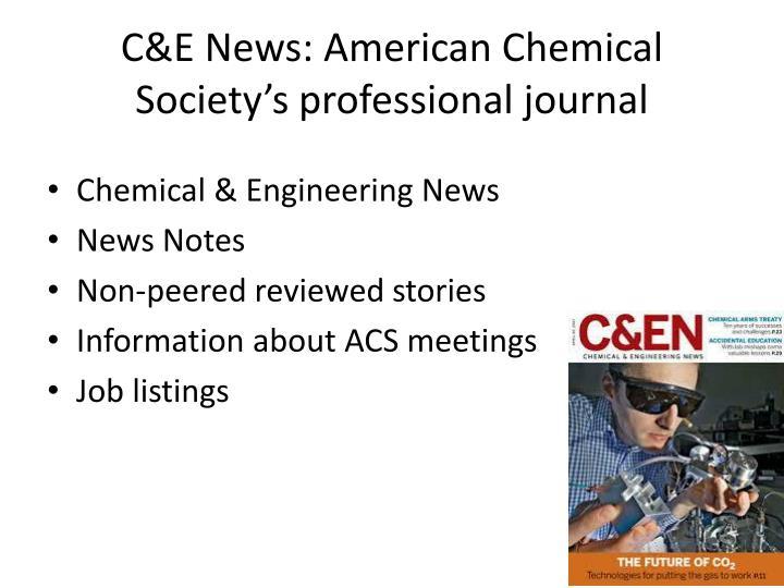 C&E News: American Chemical Society