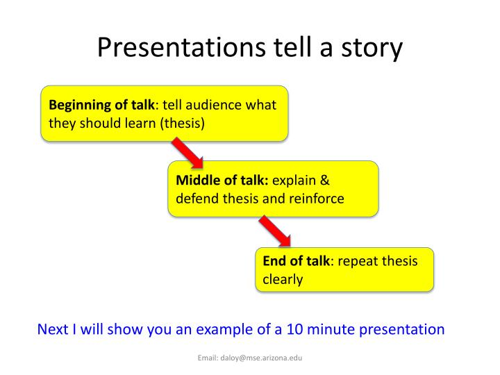 Presentations tell a story