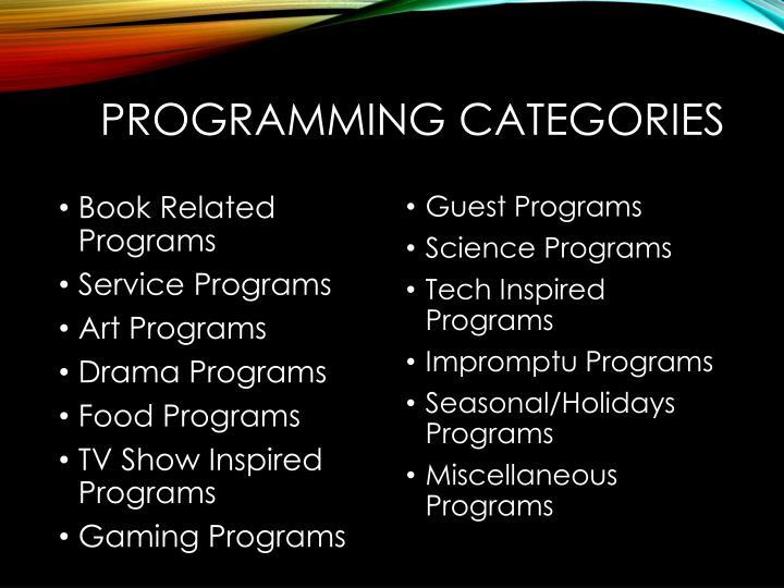 Programming Categories