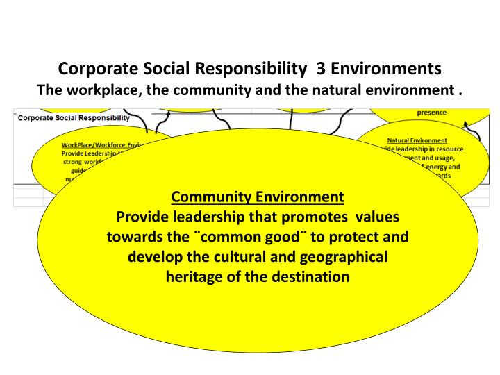 Corporate Social Responsibility  3 Environments