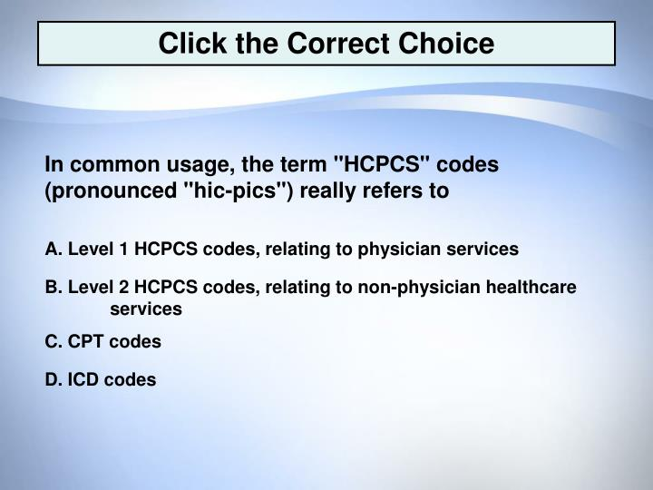 Click the Correct Choice