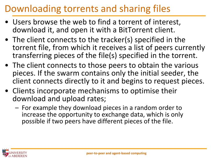 Downloading torrents and sharing files
