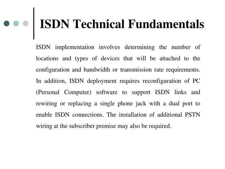 ISDN Technical Fundamentals