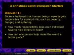 a christmas carol discussion starters