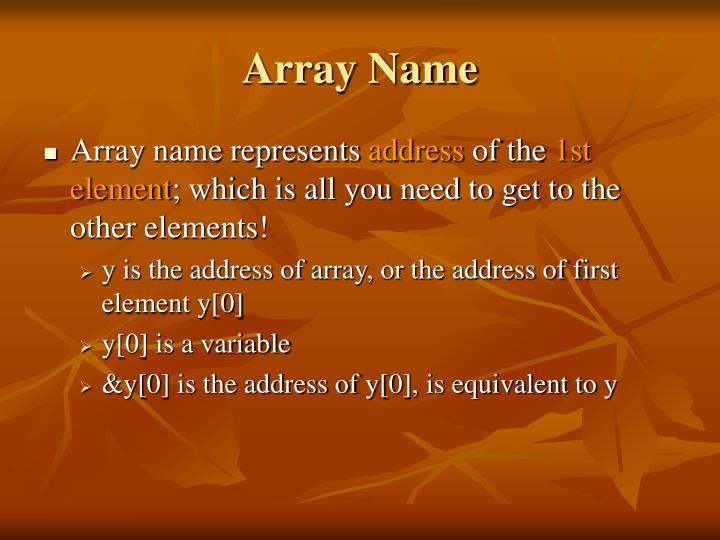 Array Name